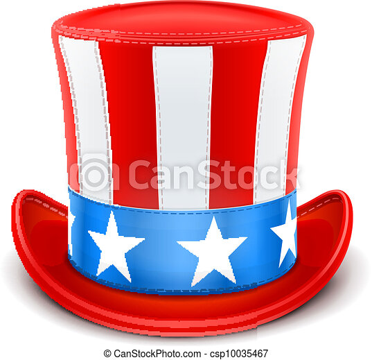usa top hat for independence day - csp10035467