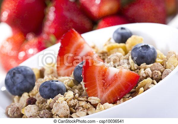 Breakfast with cereals - csp10036541