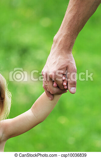 hand  the hand of a parent  - csp10036839