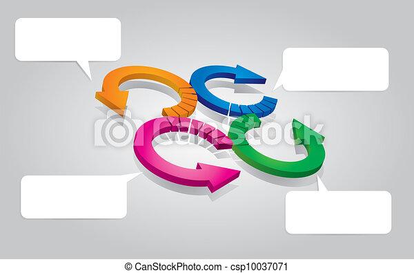 Flowchart with arrows - csp10037071
