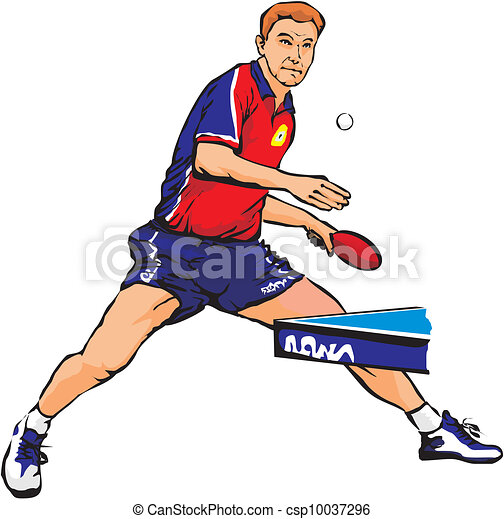 Vecteurs eps de table tennis ping pong table tennis - Dessin tennis de table ...