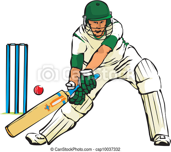 Bowling Cricket Drawing Cricket Bat And Ball Game