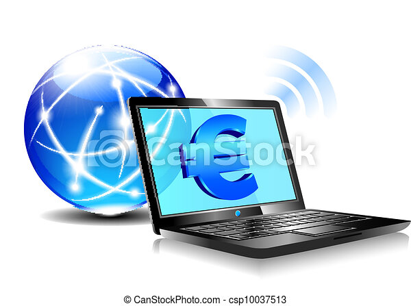 Banking online Pay by internet Euro - csp10037513