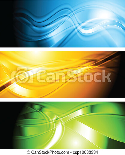 Set of vibrant wavy banners - csp10038334