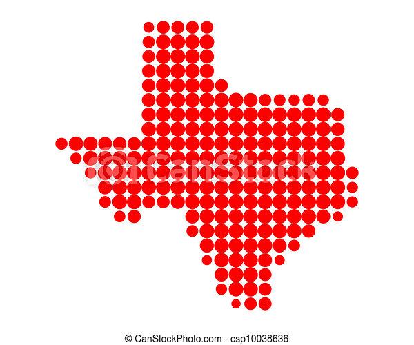 Map of Texas - csp10038636