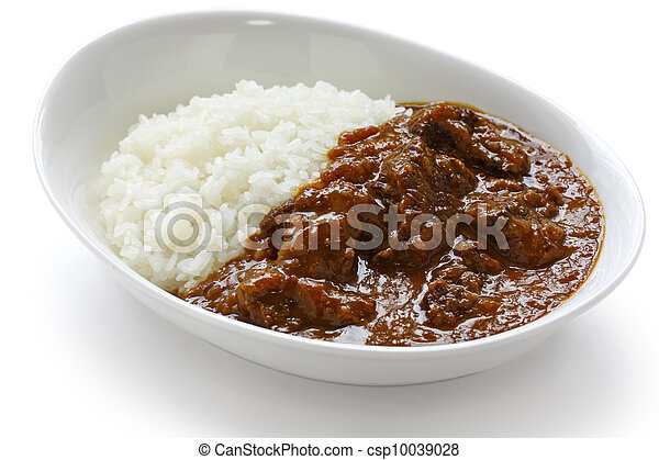 beef curry on rice - csp10039028