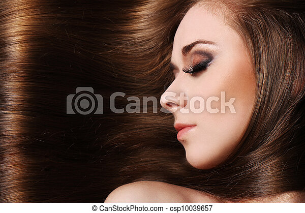 Young woman with beautiful hair - csp10039657