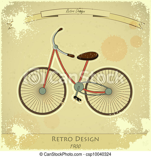 Retro bicycle card - csp10040324