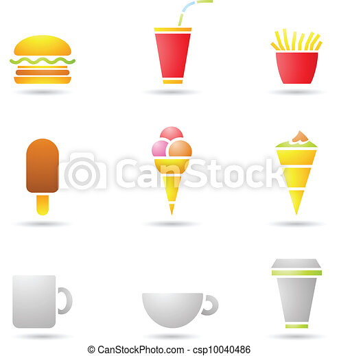 Ice Cream, coffee and Fast Food - csp10040486