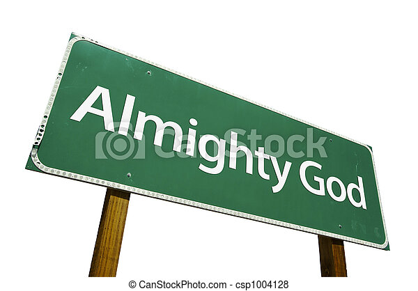 Almighty God road sign - csp1004128