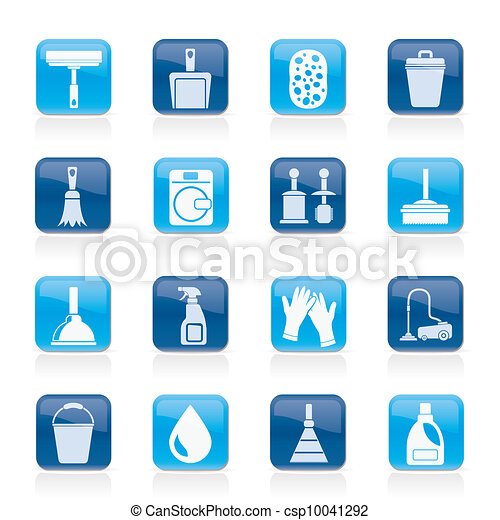 Cleaning and hygiene icons - csp10041292