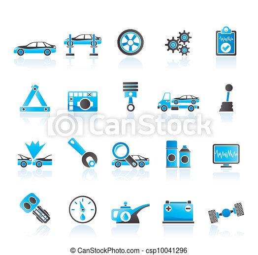 car services icons - csp10041296