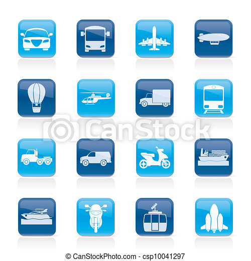 Transportation and travel icons - csp10041297
