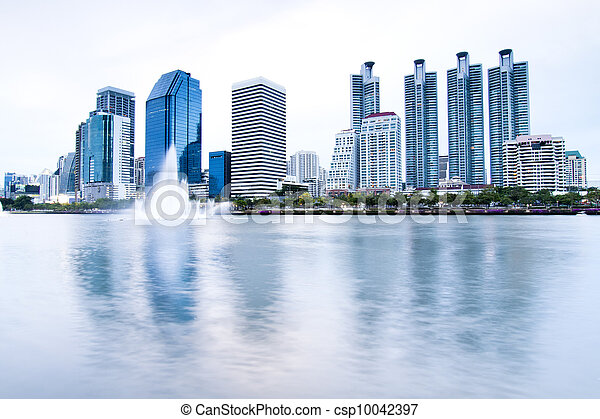 Highrise modern building in Bangkok, Thailand. - csp10042397