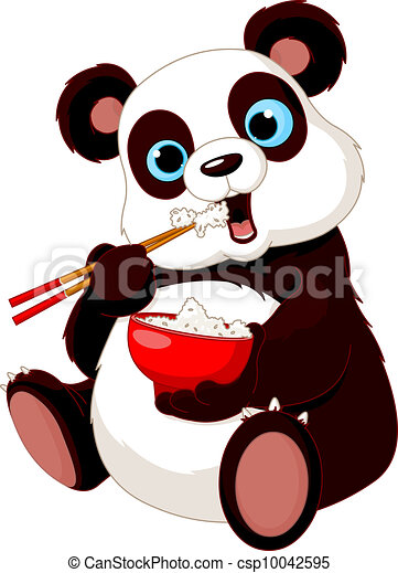 Panda eating rice - csp10042595
