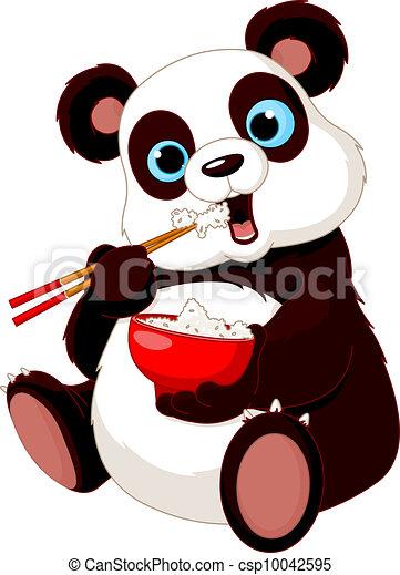 Panda eating rice - csp10042595