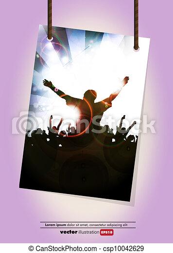 Disco event background - csp10042629
