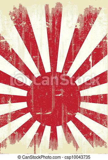 Japan grunge flag - csp10043735
