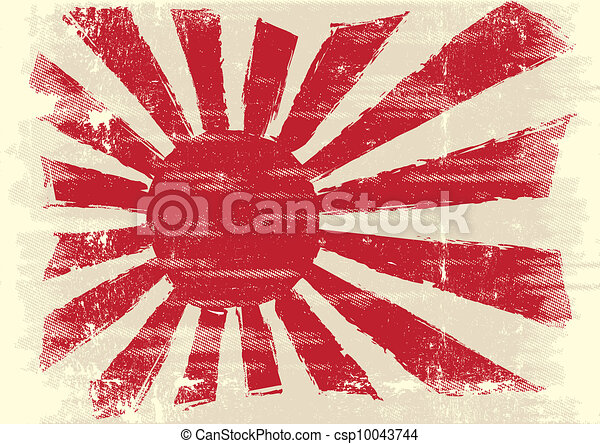 Dirty japan flag - csp10043744
