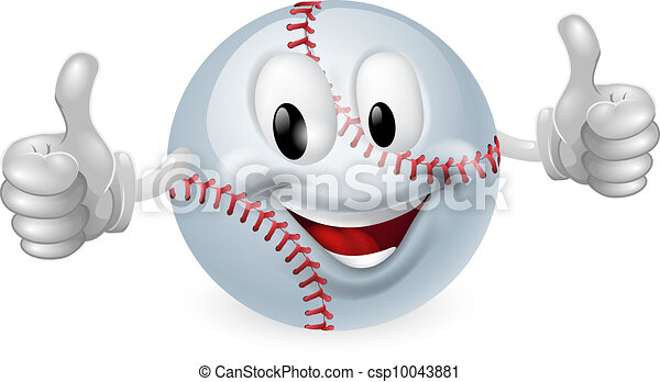 Baseball Ball Mascot - csp10043881