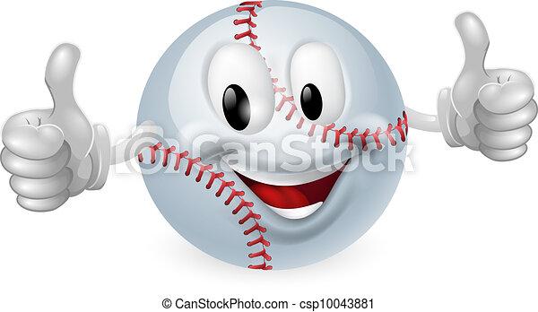 Baseball Ball Mascot - csp10043881