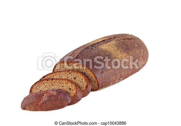 Image of dietary loaf of rye bread - csp10043886