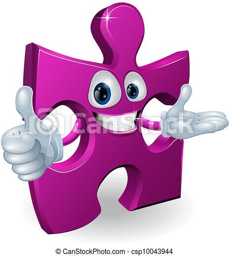 Jigsaw mascot - csp10043944
