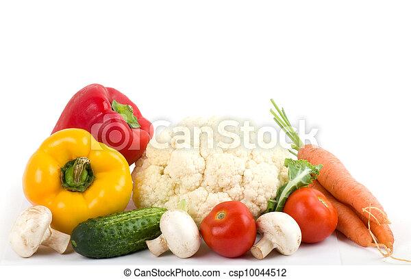 Healthy seasonal raw vegetables - csp10044512