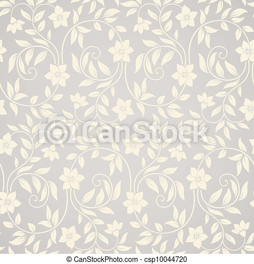 Seamless swirl floral background - csp10044720