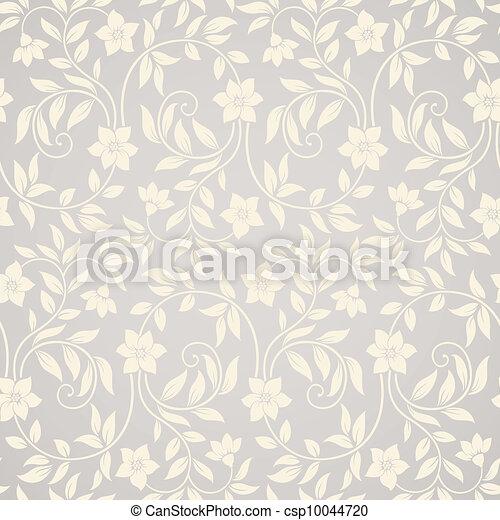 Seamless swirl floral background - csp10044720