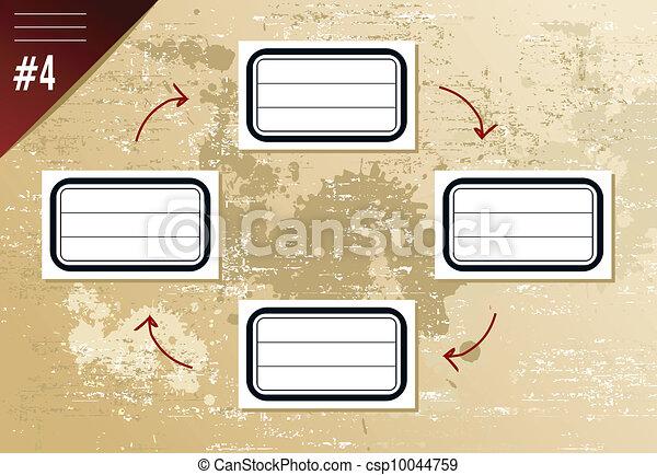 Vintage hierarchy diagram - csp10044759