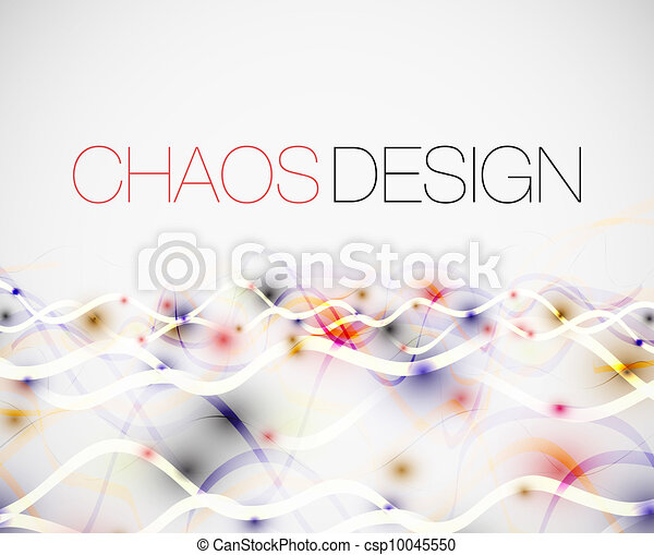 Abstract chaos lines background - csp10045550