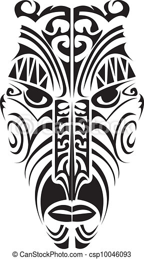 EPS Vectors Of Maori Mask