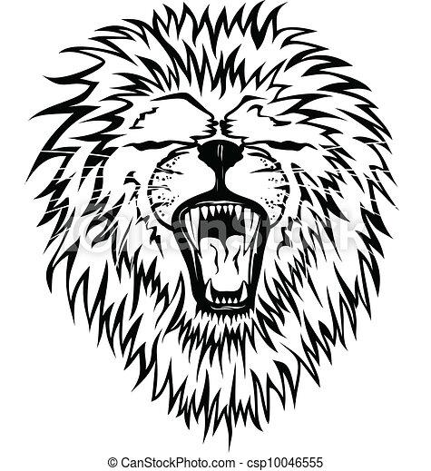 Growling lion - csp10046555