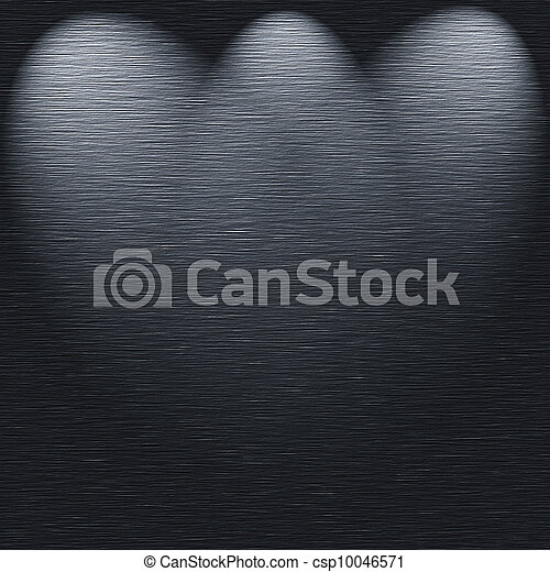 Brushed metal texture template with 3 light sources