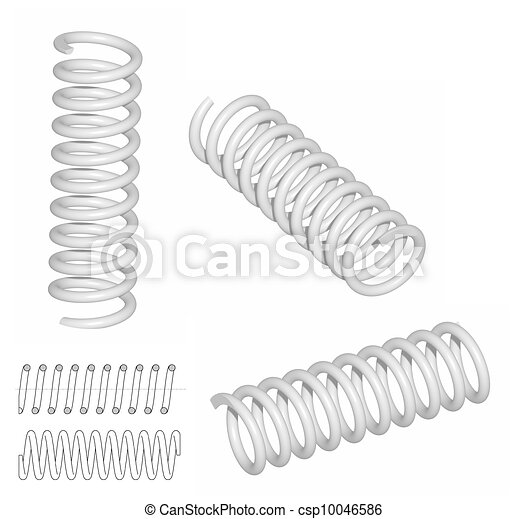 3D render of coil spring - csp10046586