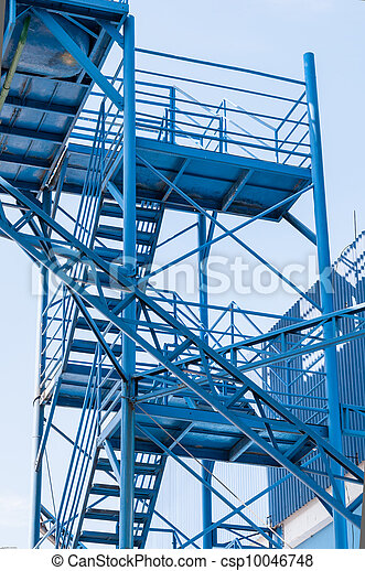 industrial metallic staircase - csp10046748