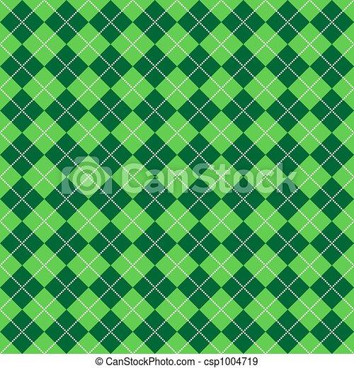Green Argyle Pattern - csp1004719
