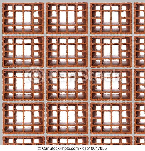Stock im genes de perforado pared ladrillo aislado - Precio ladrillo perforado ...