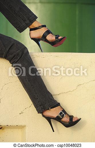 Sexy high heel legs - csp10048023