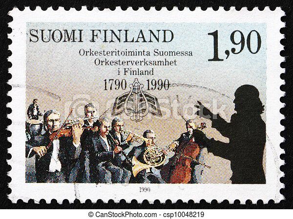 Postage stamp Finland 1990 Finnish Orchestras - csp10048219