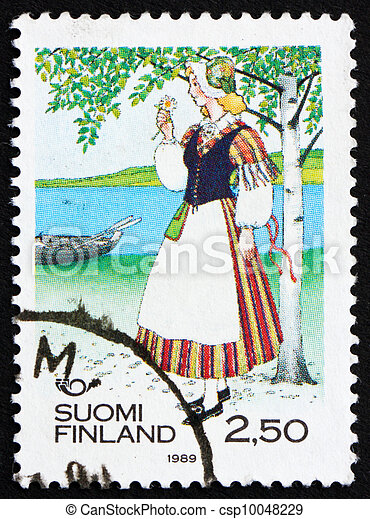 Postage stamp Finland 1989 Woman from Veteli - csp10048229