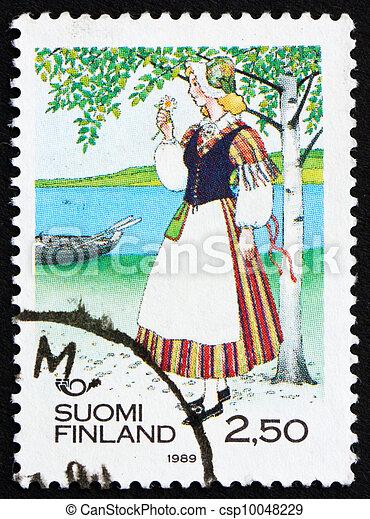 Postage stamp Finland 1989 Woman from Veteli - csp10048229
