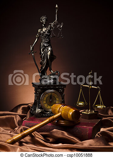 Law and justice concept - csp10051888