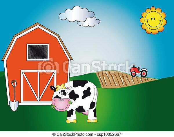 farm animal cartoon - csp10052667