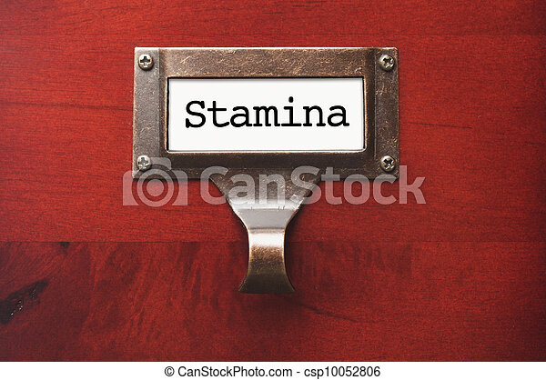 Lustrous Wooden Cabinet with Stamina File Label - csp10052806