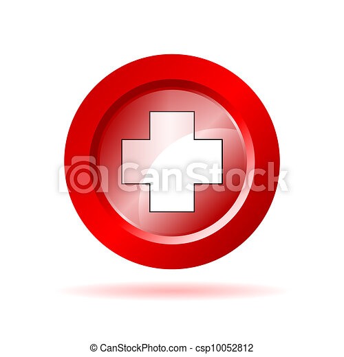 red cross sign vector illustration - csp10052812