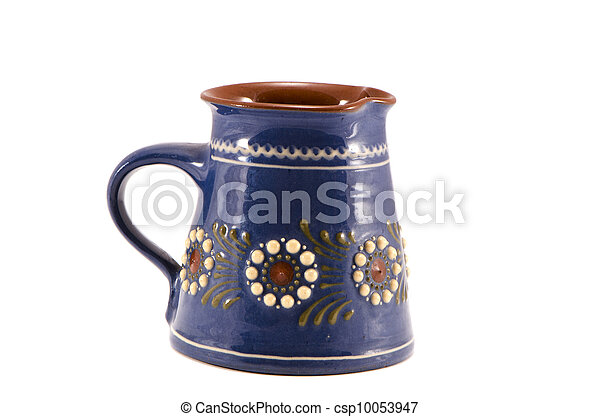 isolated decorative ceramics cup - csp10053947