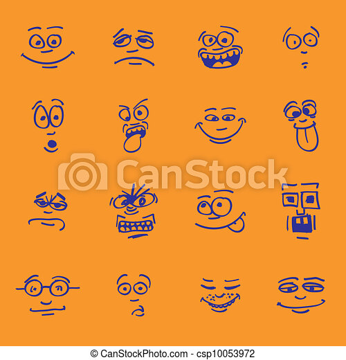 set of cartoon emotion - csp10053972