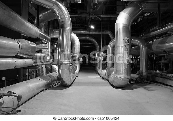 Pipes inside energy plant - csp1005424